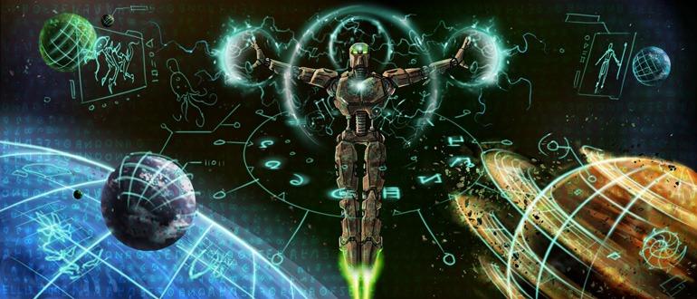Le Robot du Grand Esprit explorant l'espace après la destruction de Spherus Magna