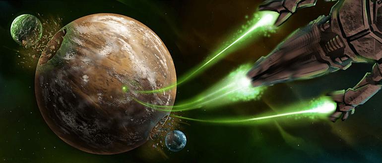 Spherus Magna, planète des Grands Êtres lors de son Fracassement causé par le Protodermis en fusion