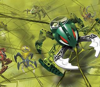 Image promotionnelle mettant en scène les Visorak, ennemis des Toa Hordika en 2005