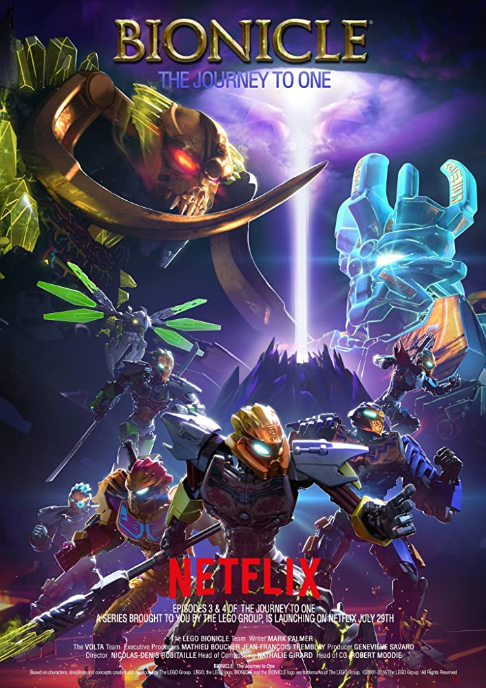 Affiche de la série Netflix BIONICLE : The Journey to One