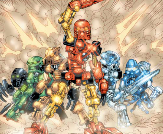 Image extraite de la première bane dessinée BIONICLE