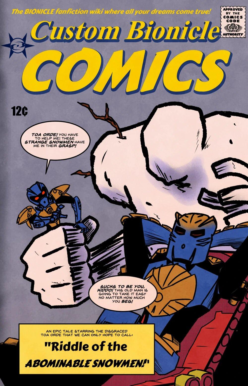 "Première de couverture du webcomic ""Toa Orde in: Riddle of the Abominable Snowmen"""